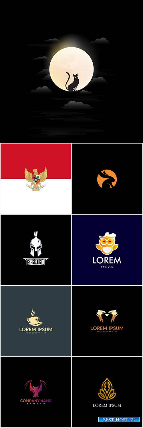 Logo vector template business set # 87