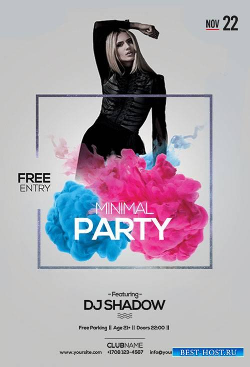 Minimal Party - Premium flyer psd template