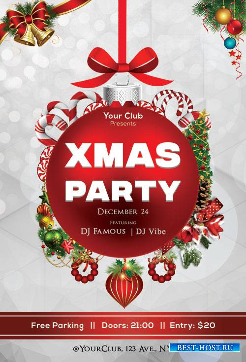 Xmas Party - Premium flyer psd template