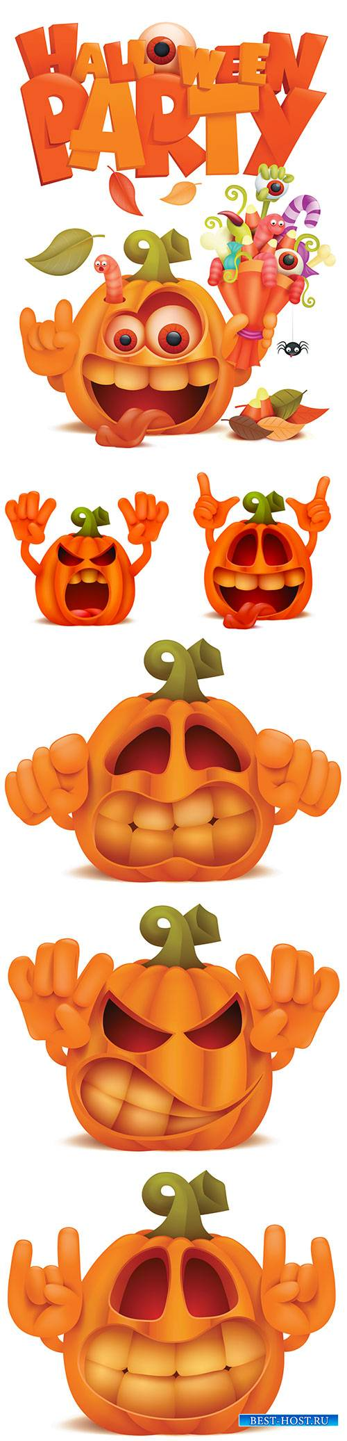 Halloween illustration set in vector # 8