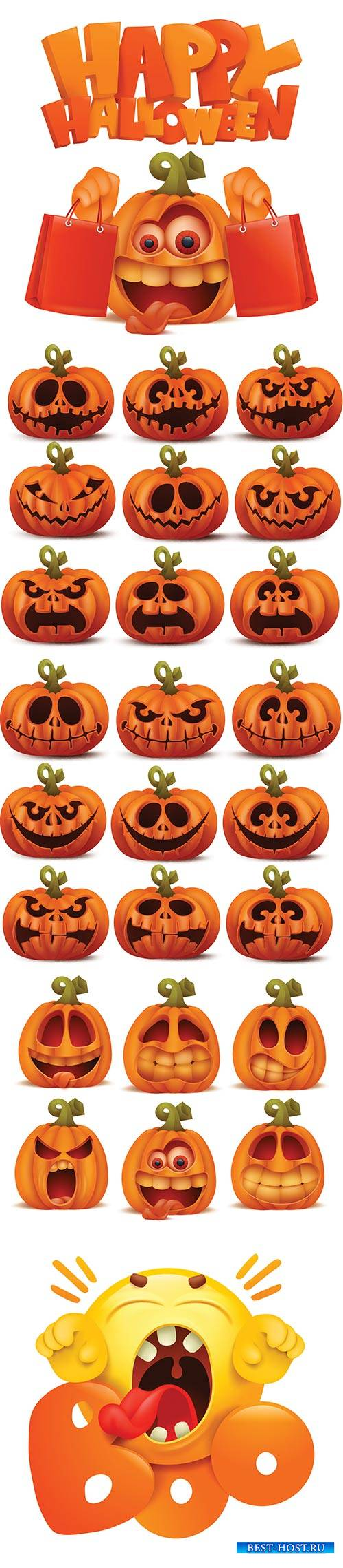 Halloween illustration set in vector