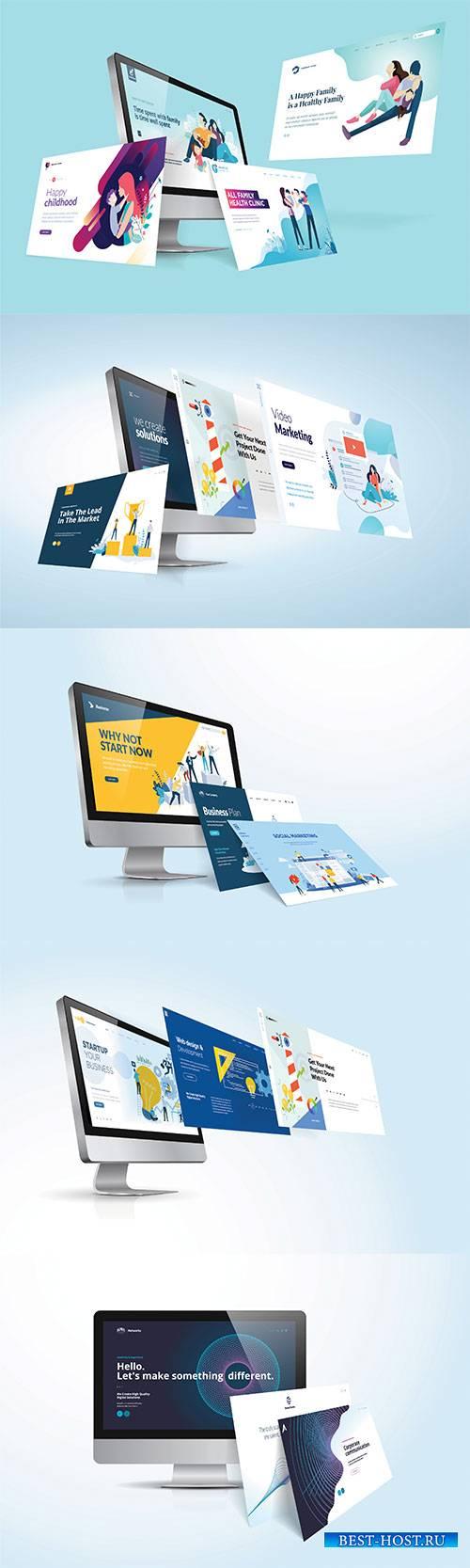 Vector illustration concept of website design and development