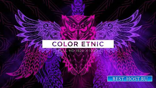 Videohive - Color Etnic VJ Loops Background - 24990259