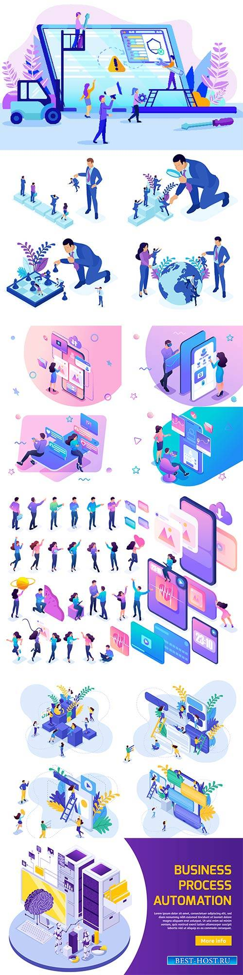Flat isometric vector 3D concept illustration # 62
