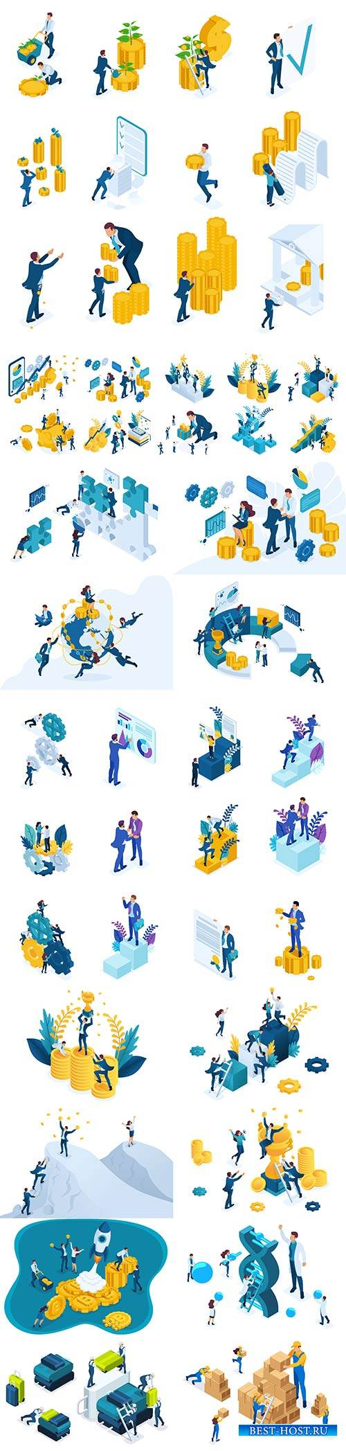 Flat isometric vector 3D concept illustration # 60