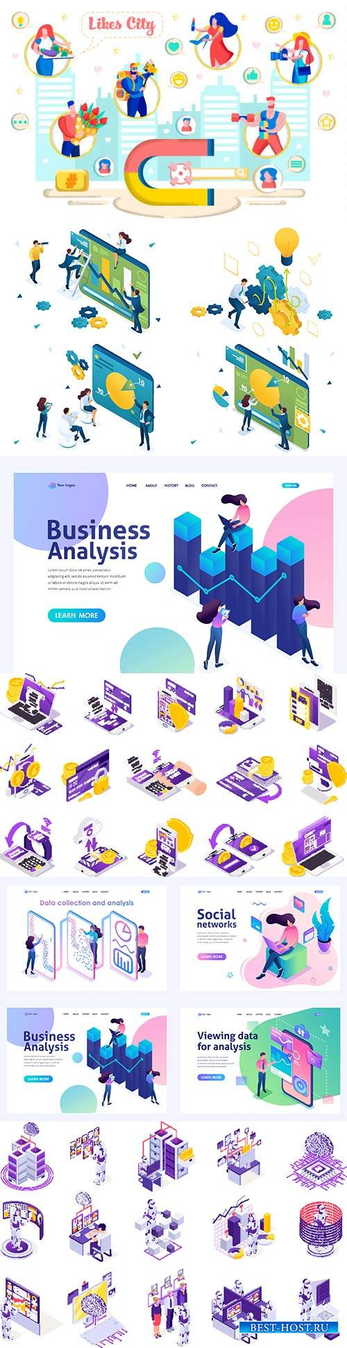 Flat isometric vector 3D concept illustration # 61