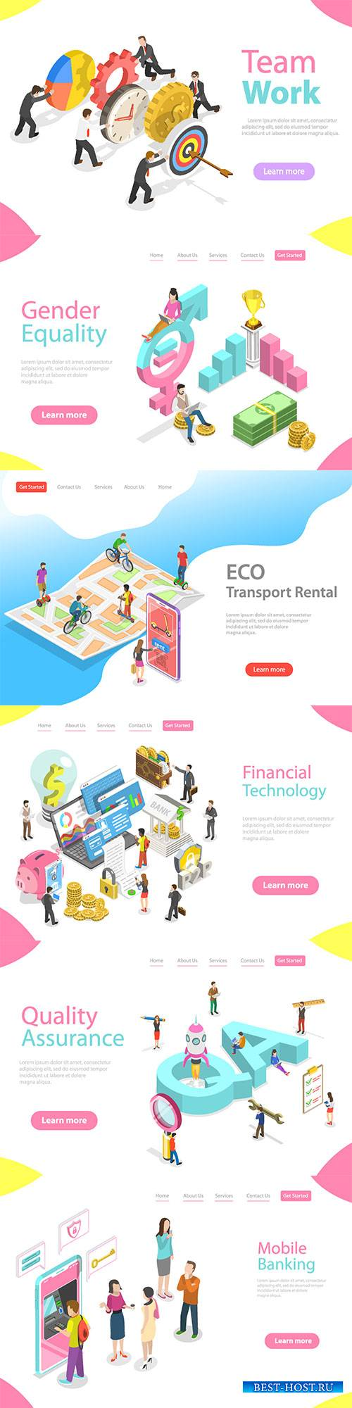 Flat isometric vector 3D concept illustration # 55