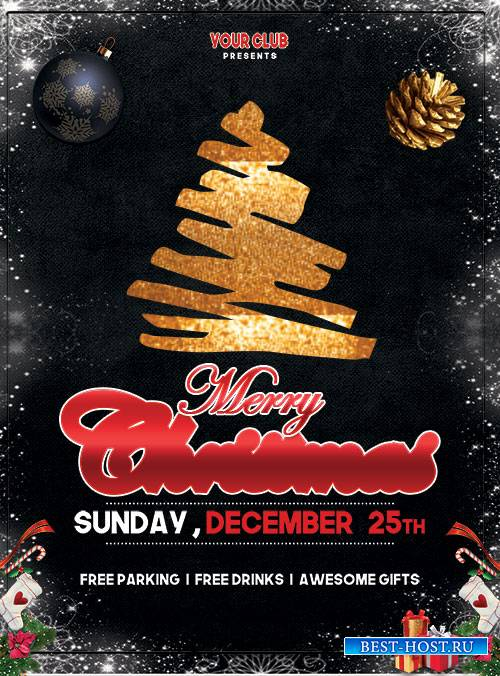 Merry Christmas Event - Premium flyer psd template