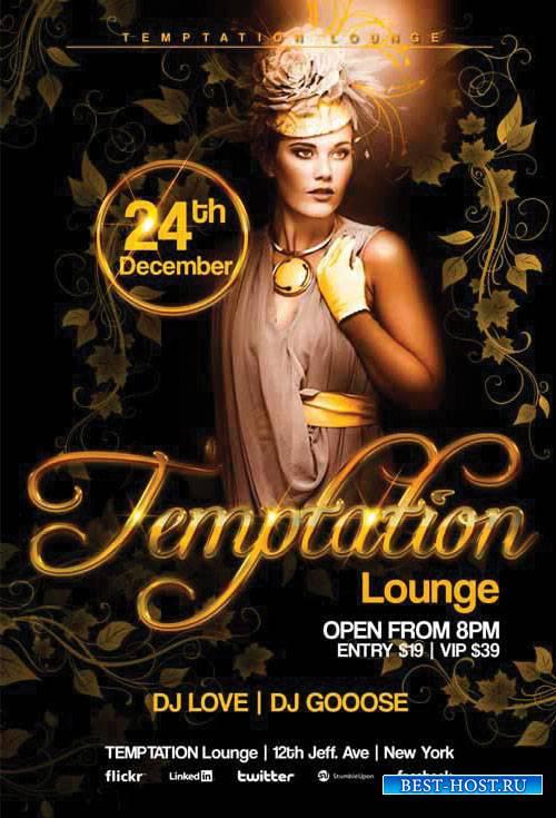 Temptation Lounge - Premium flyer psd template