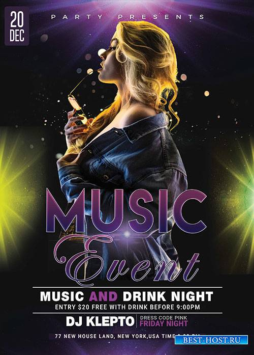 Music Event - Premium flyer psd template