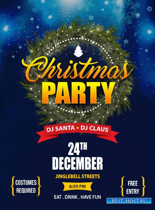 Christmas Party Flyer - Premium flyer psd template