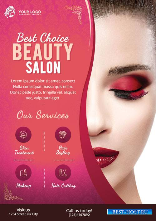 Beauty Salon - Premium flyer psd template
