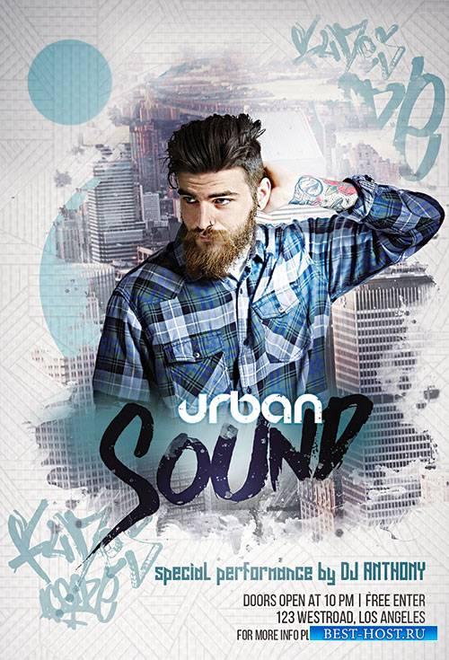 Urban Sound - Premium flyer psd template, Facebook Cover