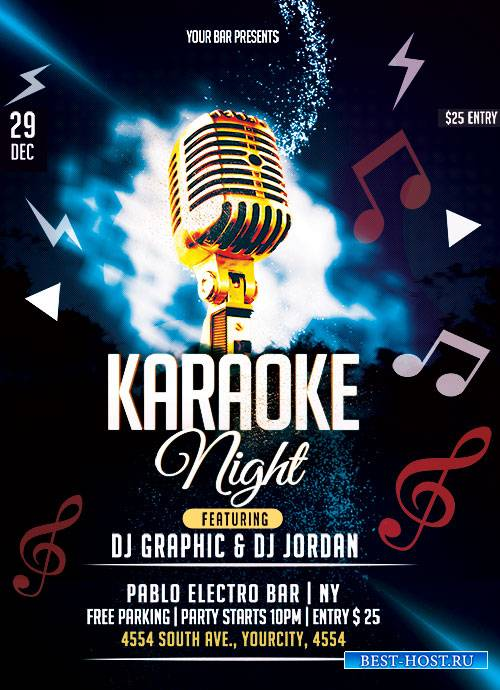 Karaoke Night - Premium flyer psd template