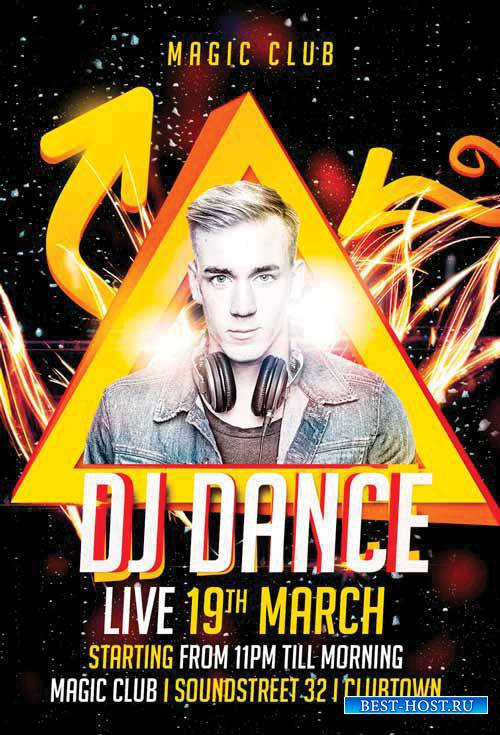 DJ Dance - Premium flyer psd template