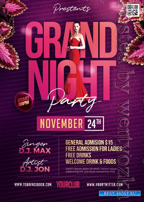 Grand Night Party - Premium flyer psd template