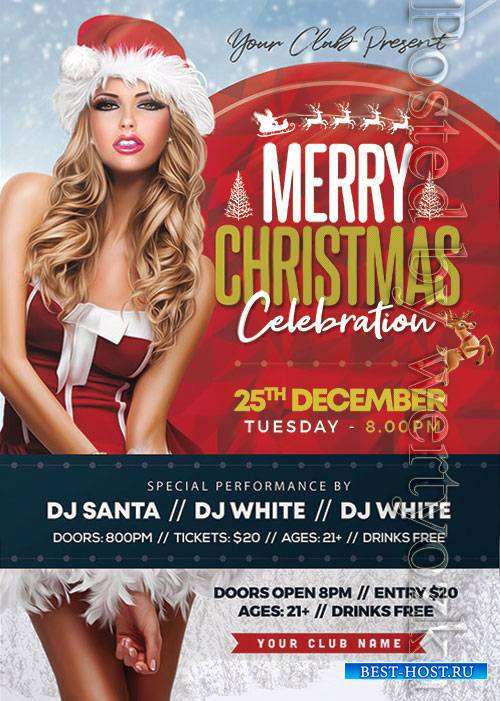 Christmas Party 3 - Premium flyer psd template
