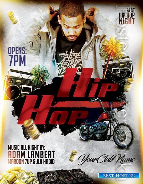 Hip Hop Night - Premium flyer psd template