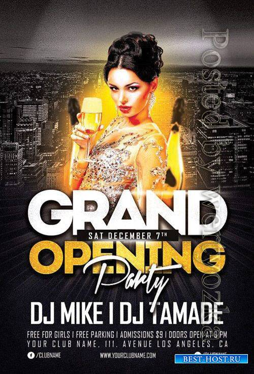 Grand opening party - Premium flyer psd template