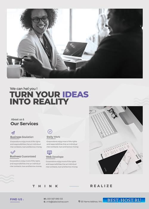 Minimal Corporate - Premium flyer psd template
