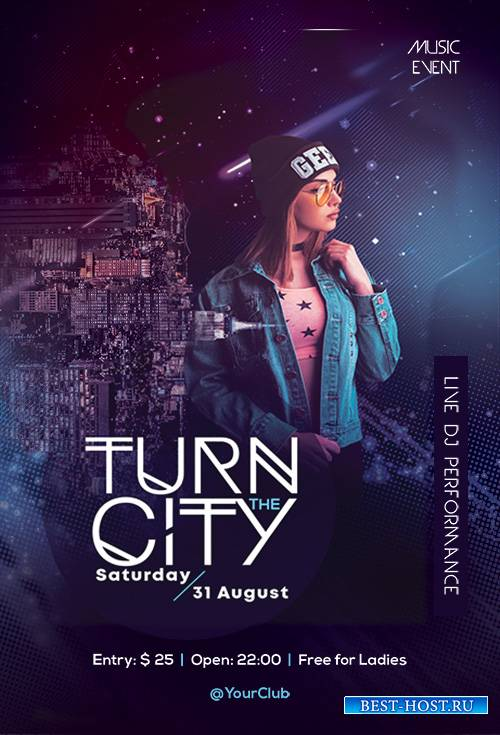 Turn the City - Premium flyer psd template