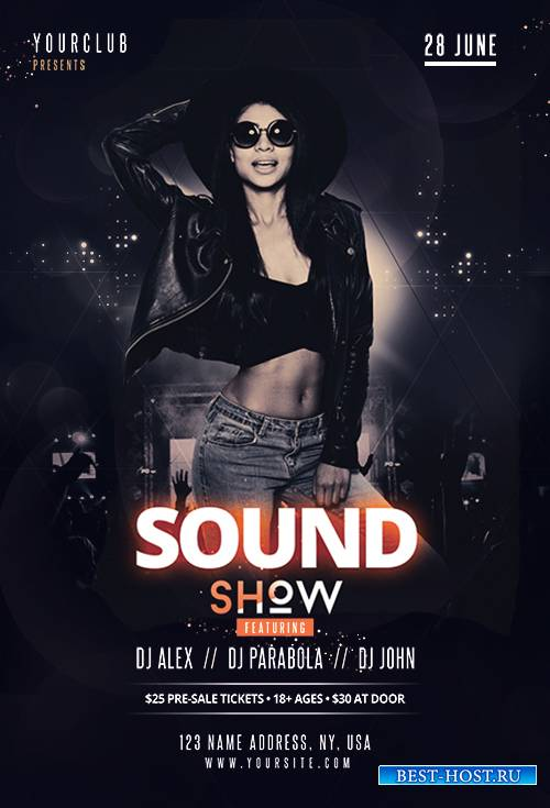 Sound show - Premium flyer psd template
