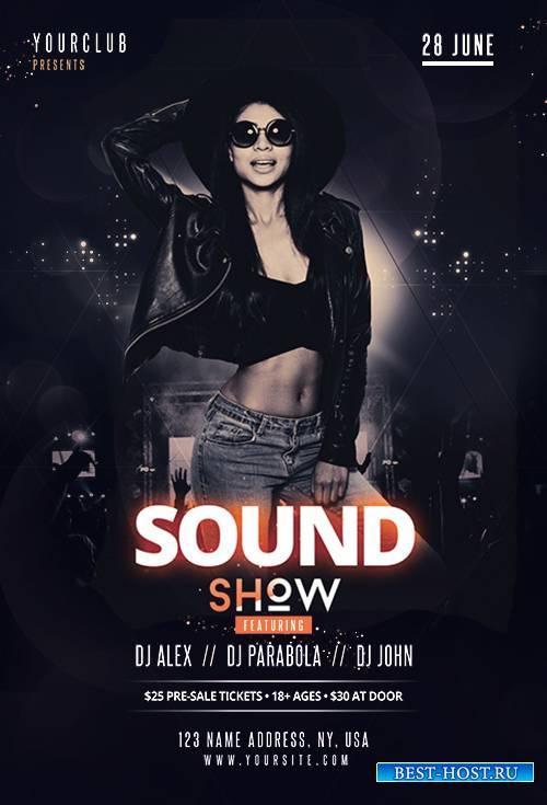 Sound show - Premium flyer psd template