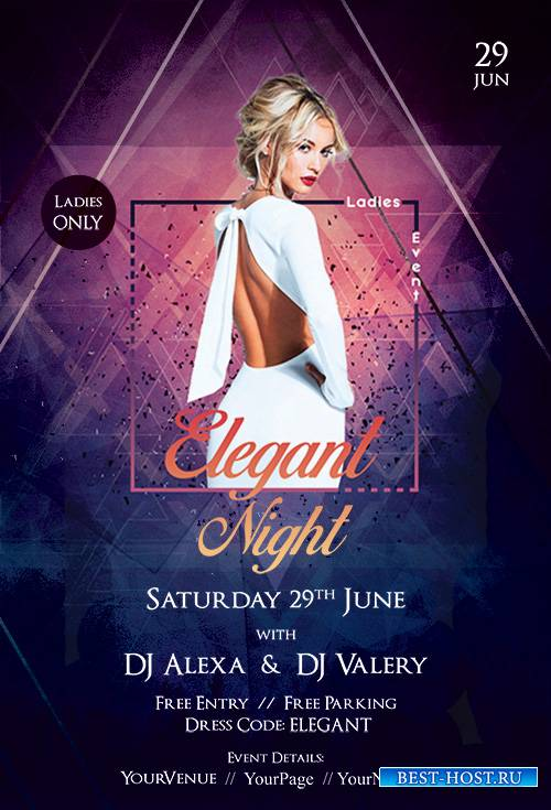 Elegant Ladies Night - Premium flyer psd template