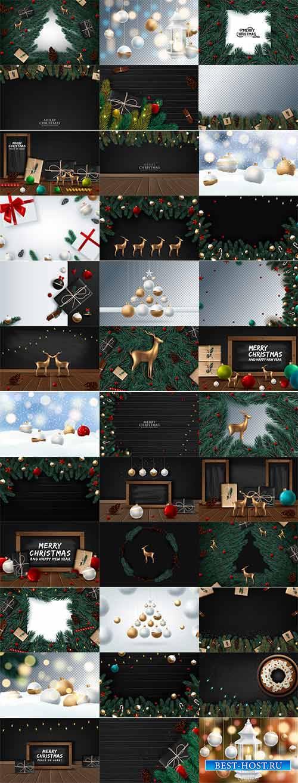 Новогоднее ассорти 3 - Векторный клипарт / Christmas pictures 3 - Vector Gr ...