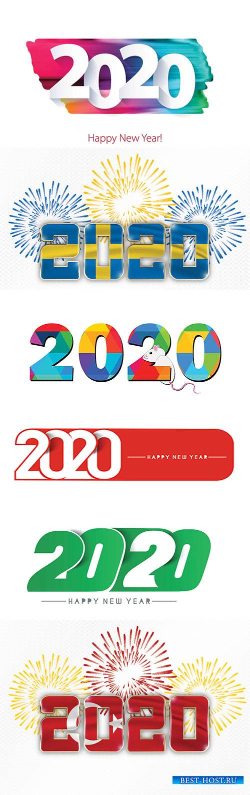 Numbers of new year 2020