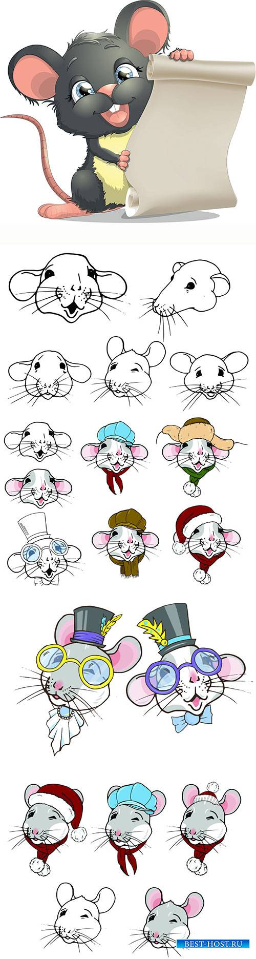 Rats, symbol of the year 2020 according to the Chinese calendar