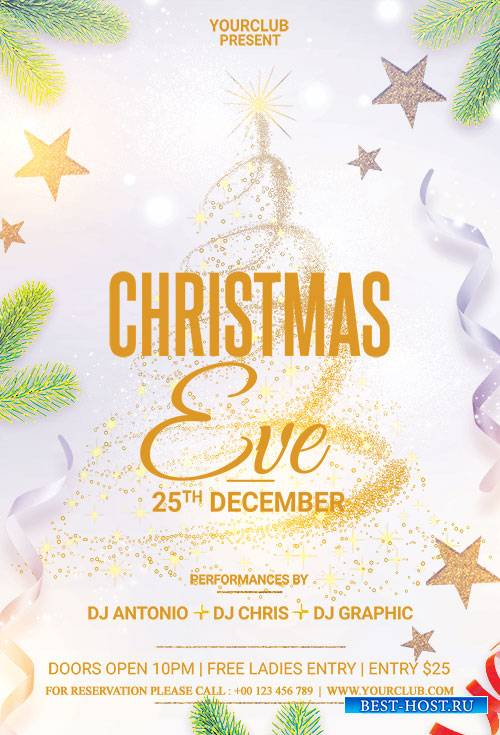 Christmas Eve - Premium flyer psd template