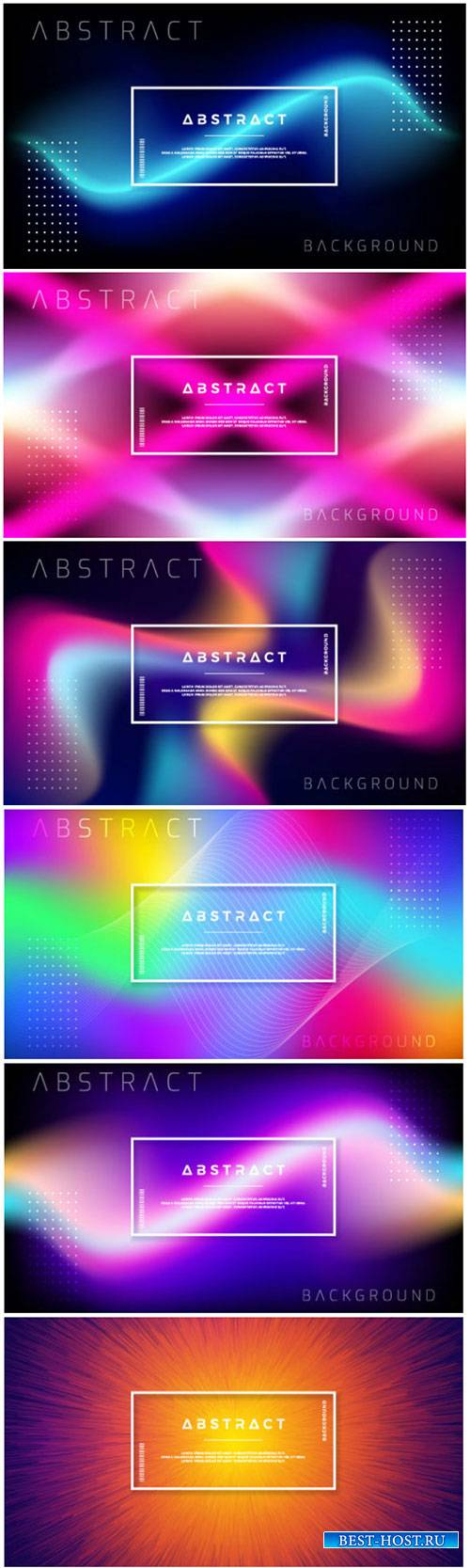 Abstract dynamic background design with colorful gradient shapes
