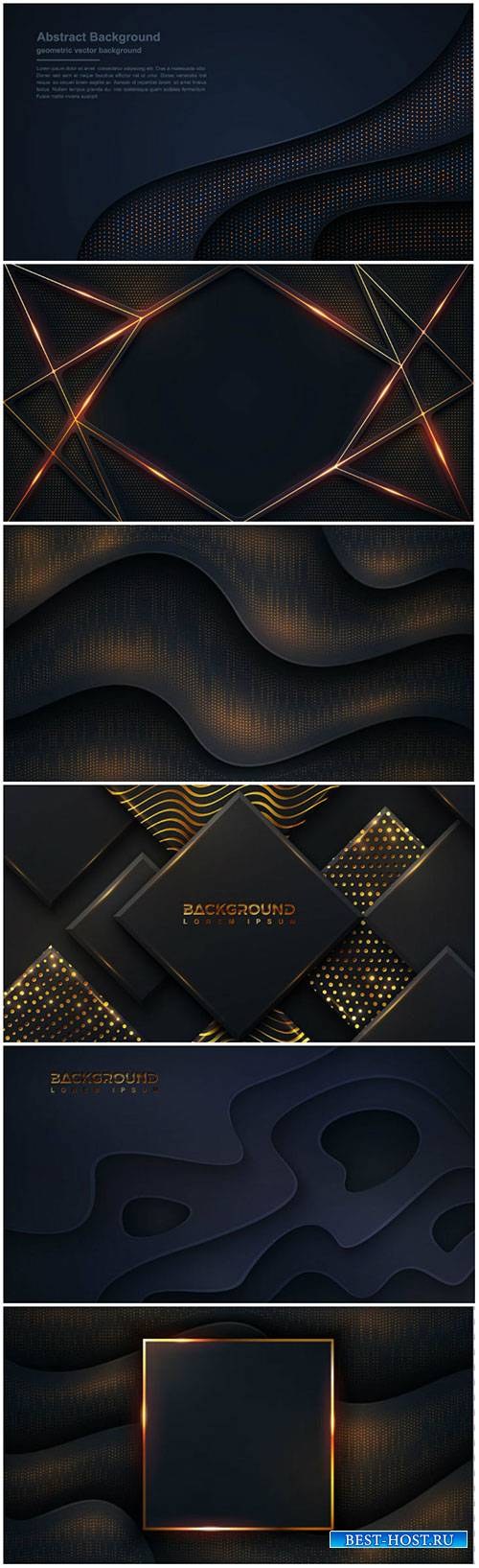 Luxury dark background textured and wavy with a combination of shining dots