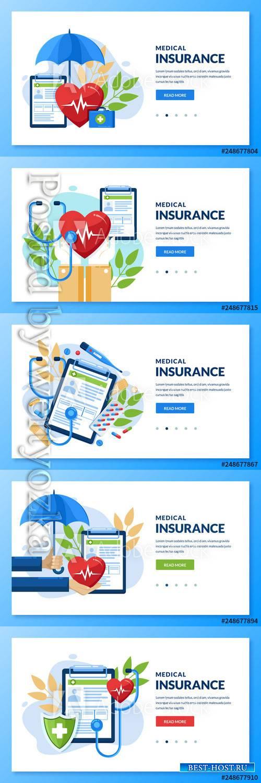 Health insurance vector medical  conceptillustration