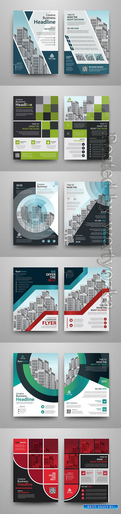 Business vector template for brochure, annual report, magazine # 18