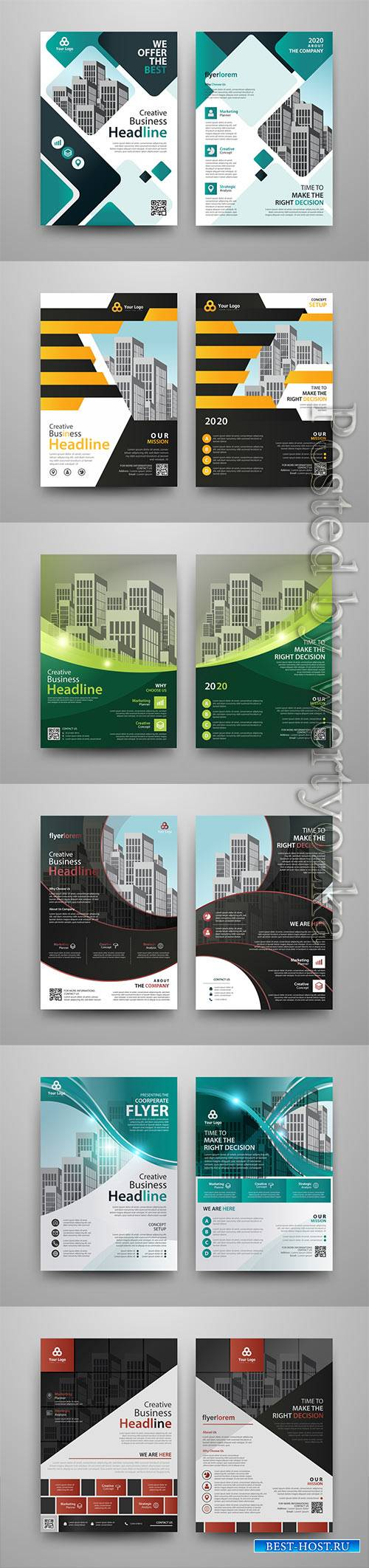 Business vector template for brochure, annual report, magazine # 19