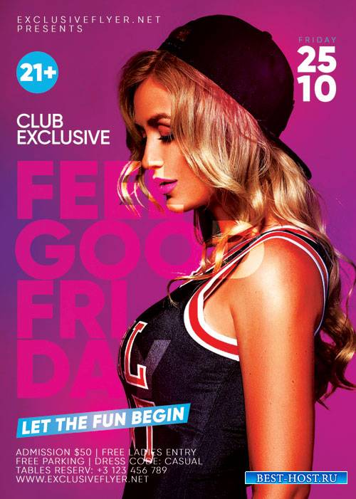Feelgood friday - Premium flyer psd template
