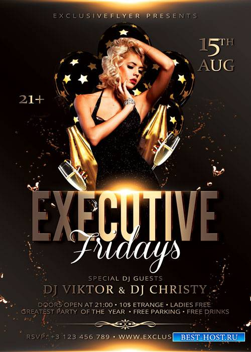 Executive fridays - Premium flyer psd template