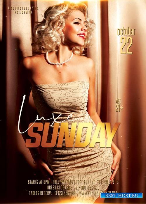Luxe sundays - Premium flyer psd template