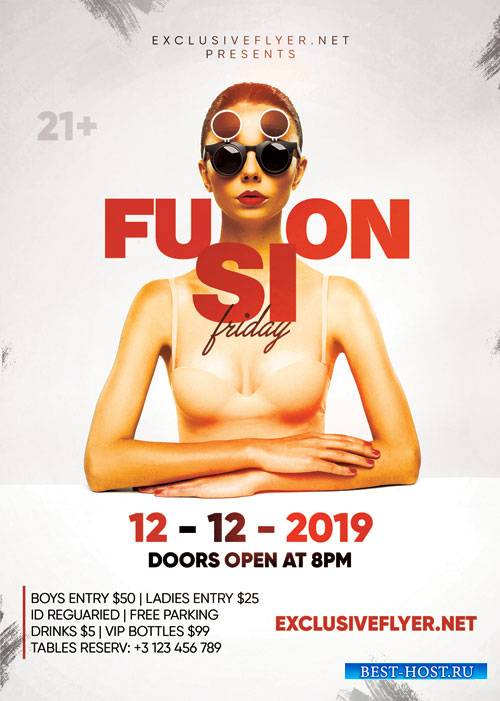 Fusion friday - Premium flyer psd template