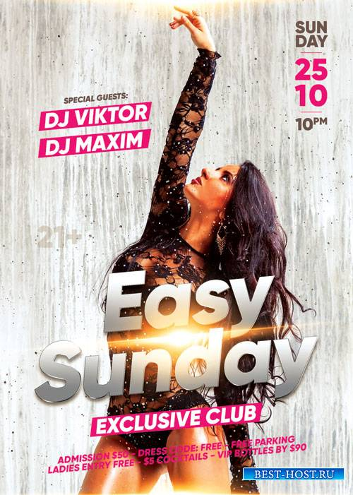 Easy sunday - Premium flyer psd template