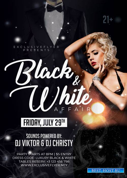 Black and white affair - Premium flyer psd template