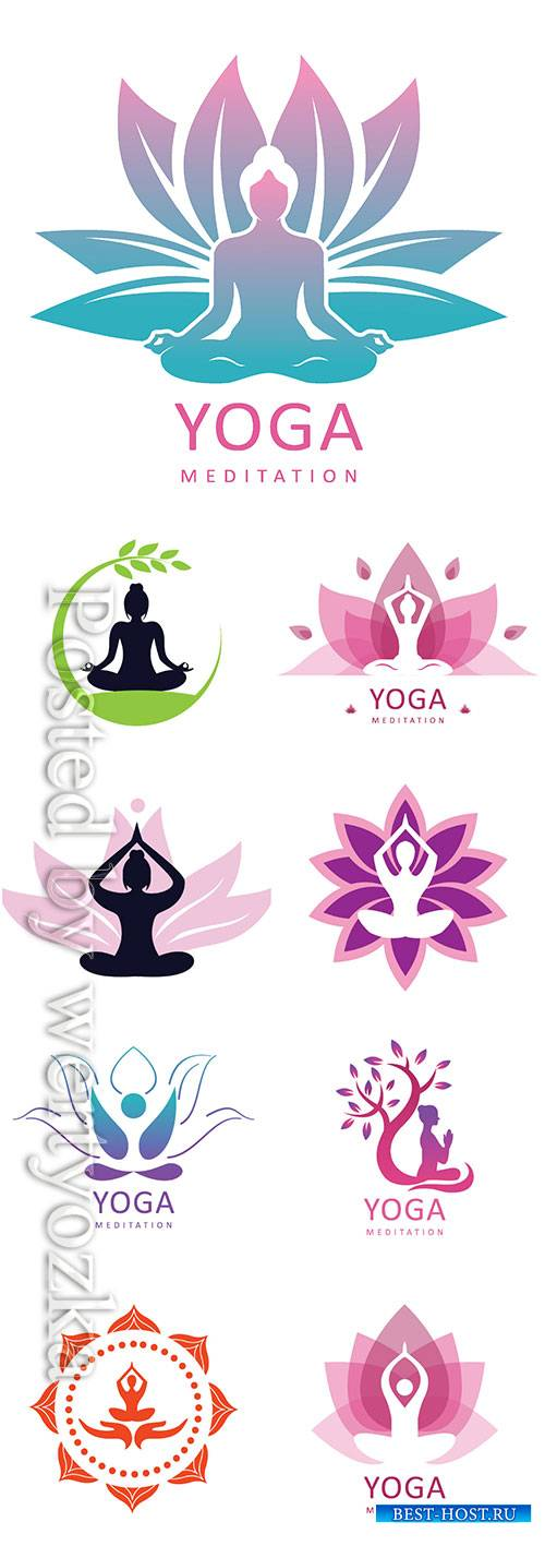 Yoga logo vector design