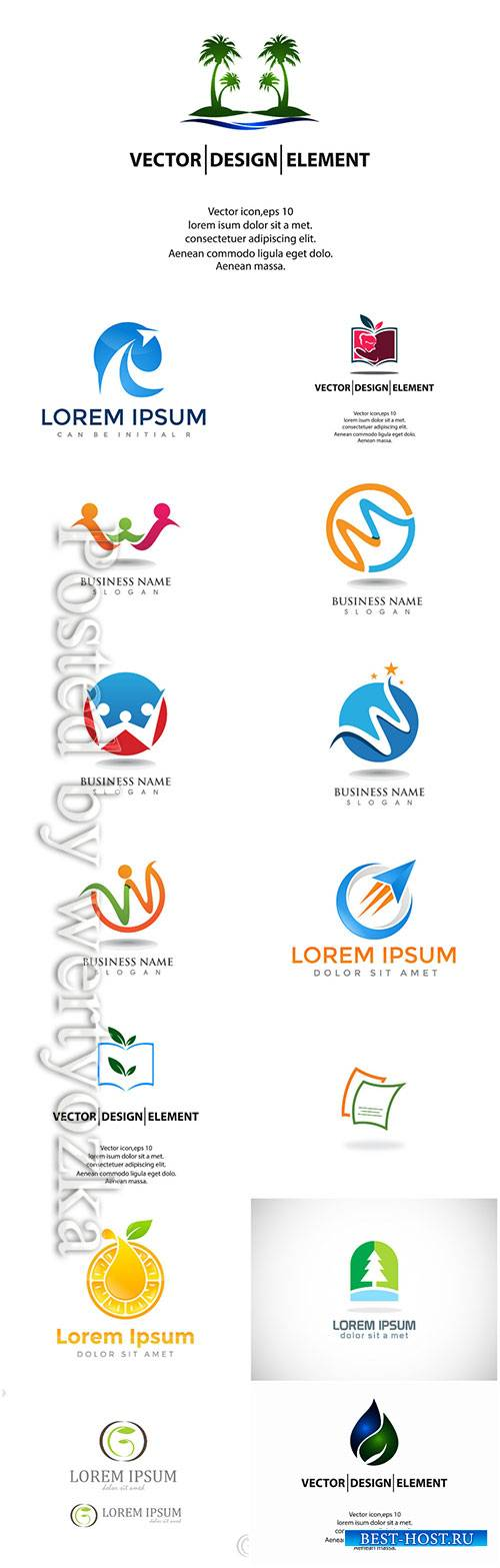 Logos set, business vector # 6