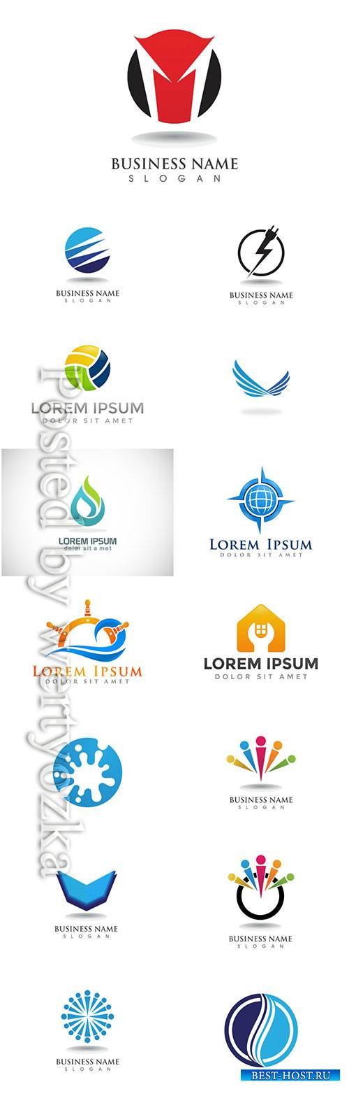 Logos set, business vector # 3