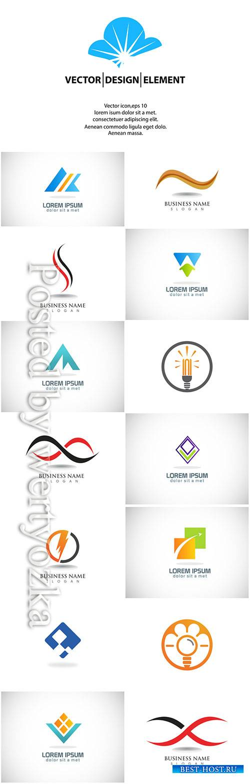 Logos set, business vector # 4