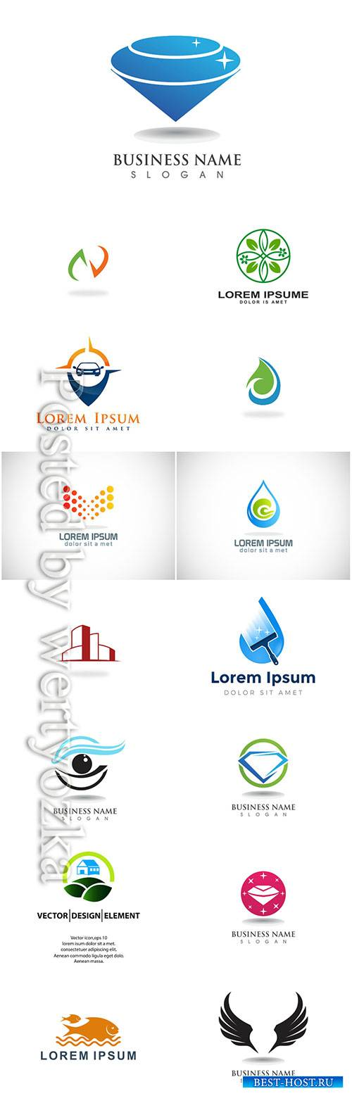 Logos set, business vector # 2