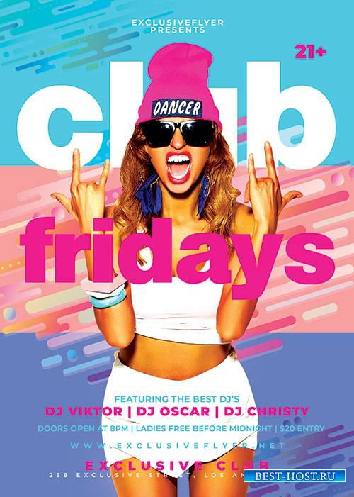 Club fridays - Premium flyer psd template