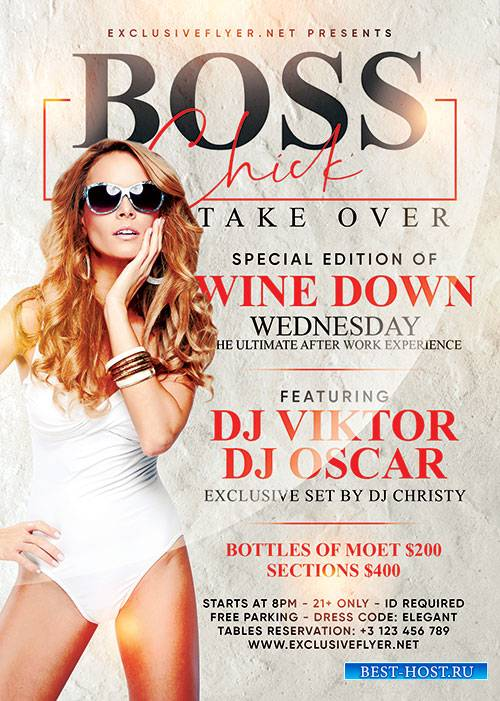 Boss chick take over - Premium flyer psd template